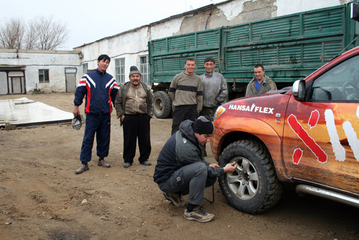 24. April 2008: Service in Quandyyaghash, Kasachstan