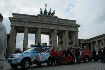 9. March 2008: Berlin - Brandenburger Tor, mileage 382 km