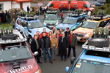 9. March 2008: Start of the XWORLD tour on the company premises in Bremen Mahndorf, mileage 0 km