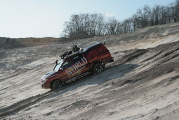 10. March 2008: Offroad training near the Eurospeedway Lausitz, mileage 522 km