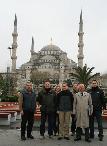 20. March 2008: Turkey - Blue Mosque Istanbul, mileage 4.237 km