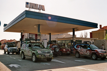 15. March 2008: Croatia - refueling stop close to Zadar, mileage 2.300 km