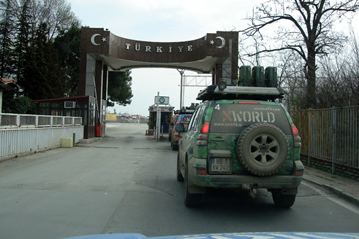 19. March 2008: border crossing Bulgaria/Turkey, mileage 3.982 km